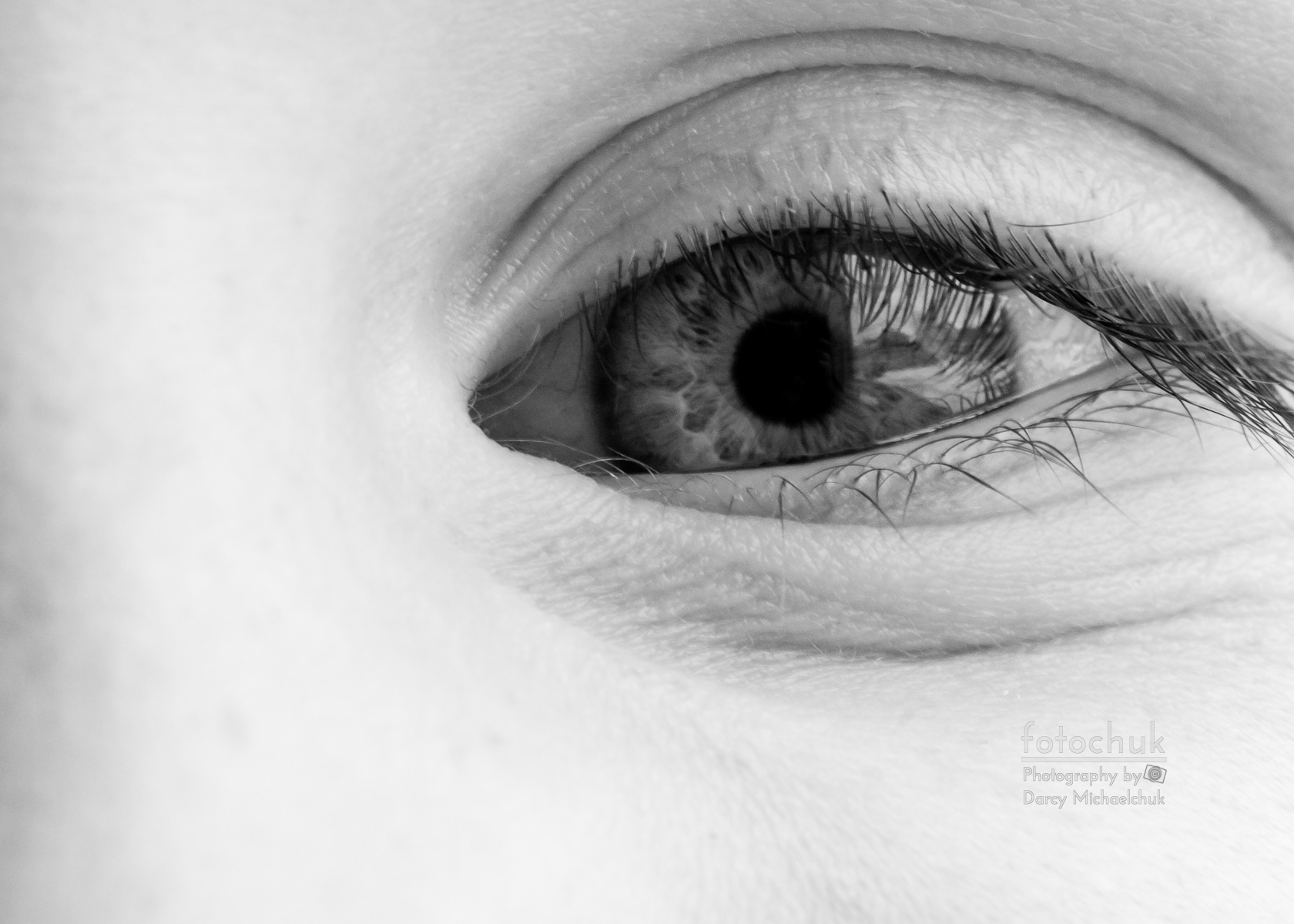 Young Black and White Eye