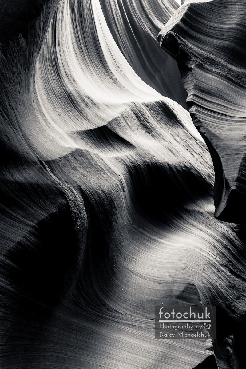 Canyon Walls Ebb and Flow Bw