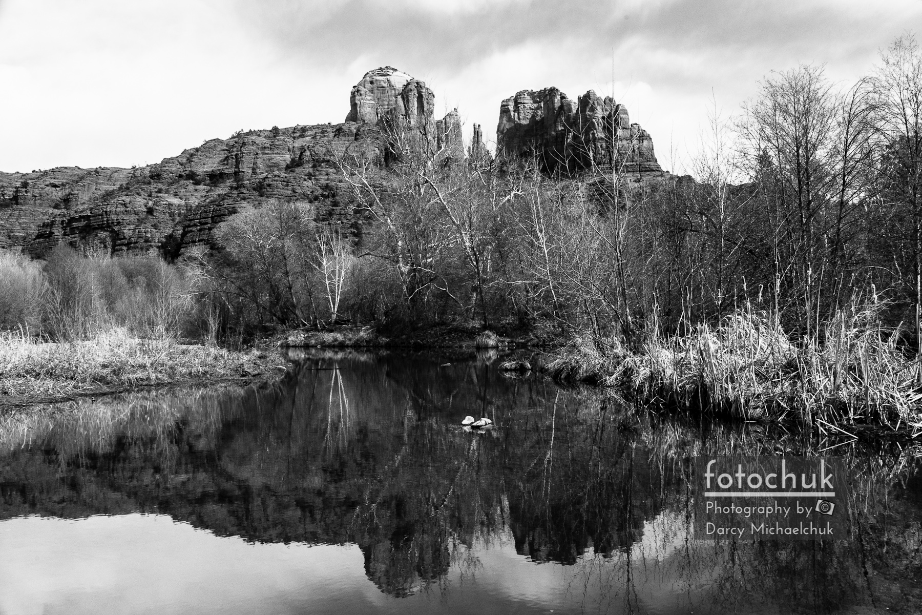Cathedral Rock Reflections Landscape 2