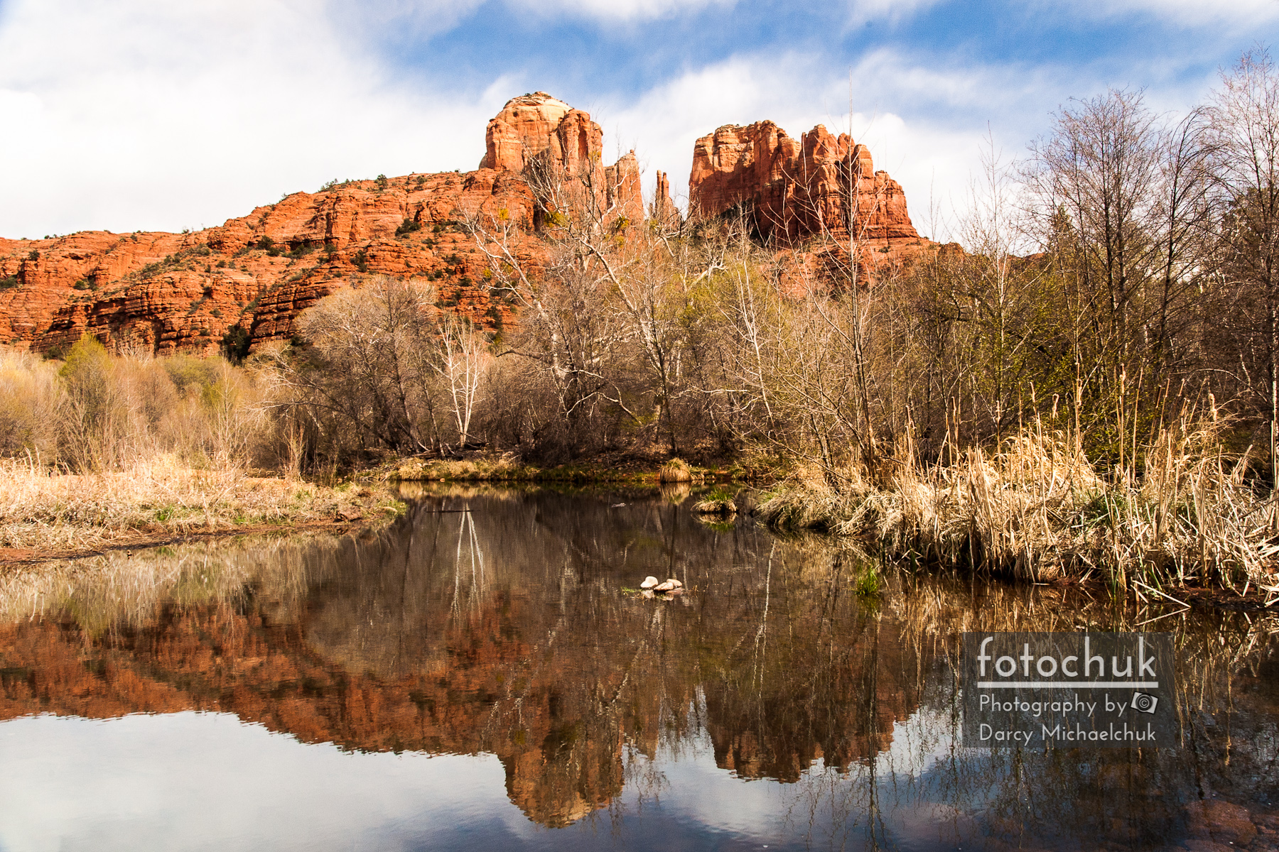 Cathedral Rock Reflections Landscape