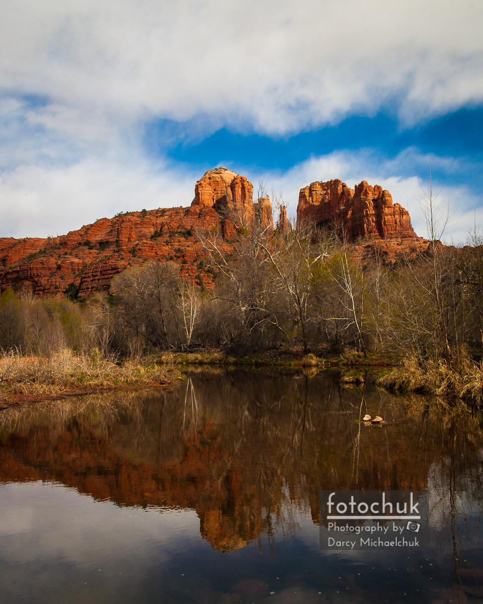 Cathedral Rock Reflections Portrait 2