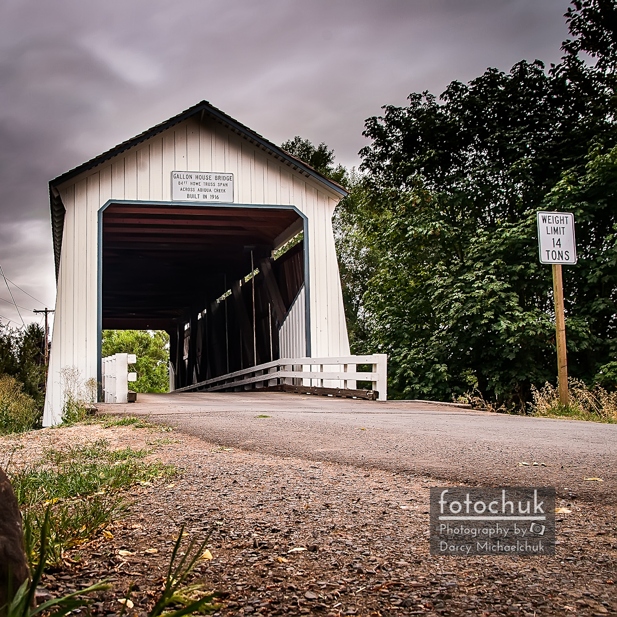 Covered Oregon Bridge
