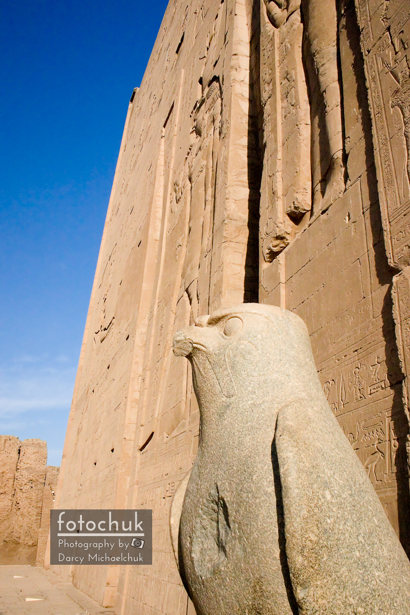 Falcon Statue at Edfu