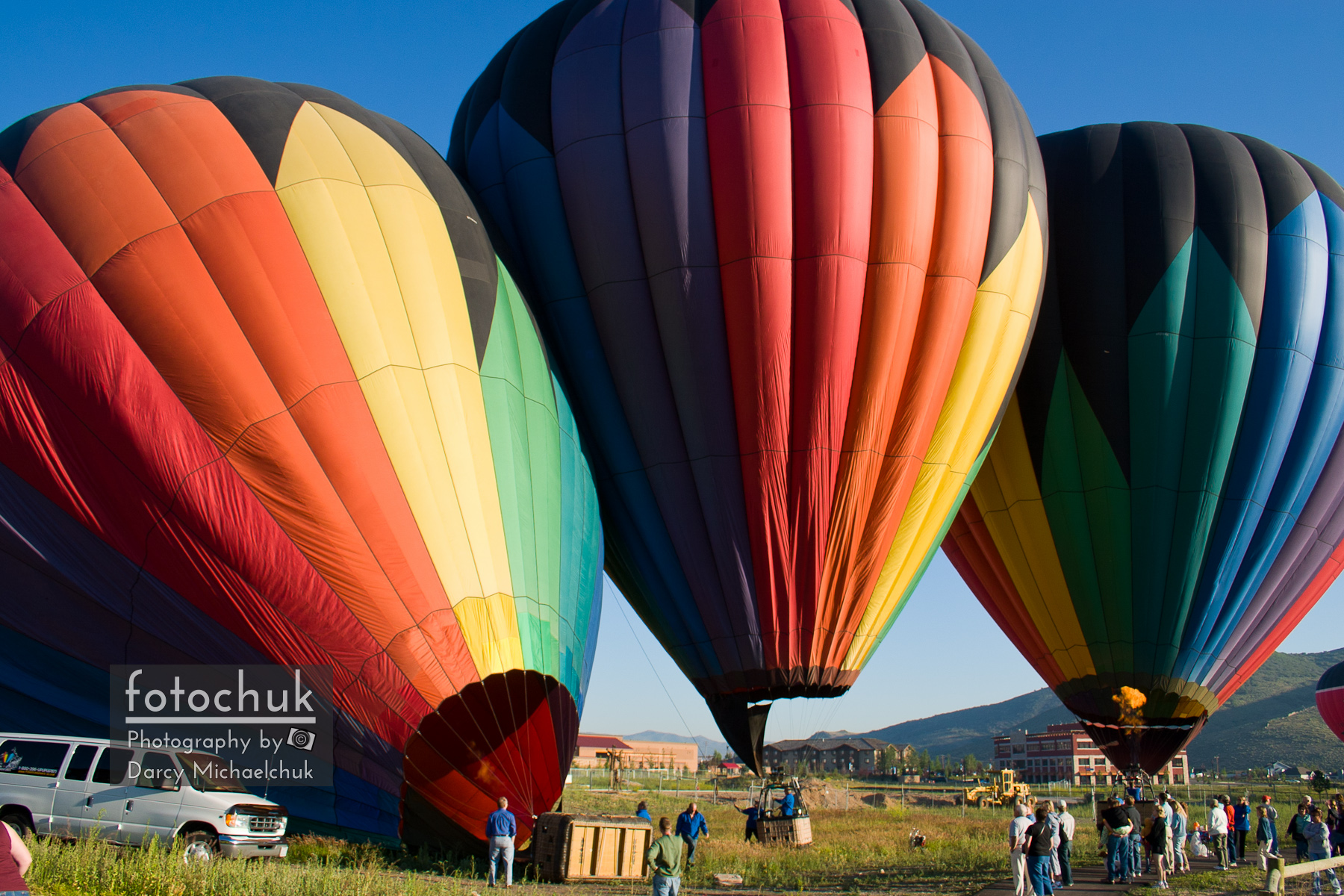 Hot Air Balloons Inflate