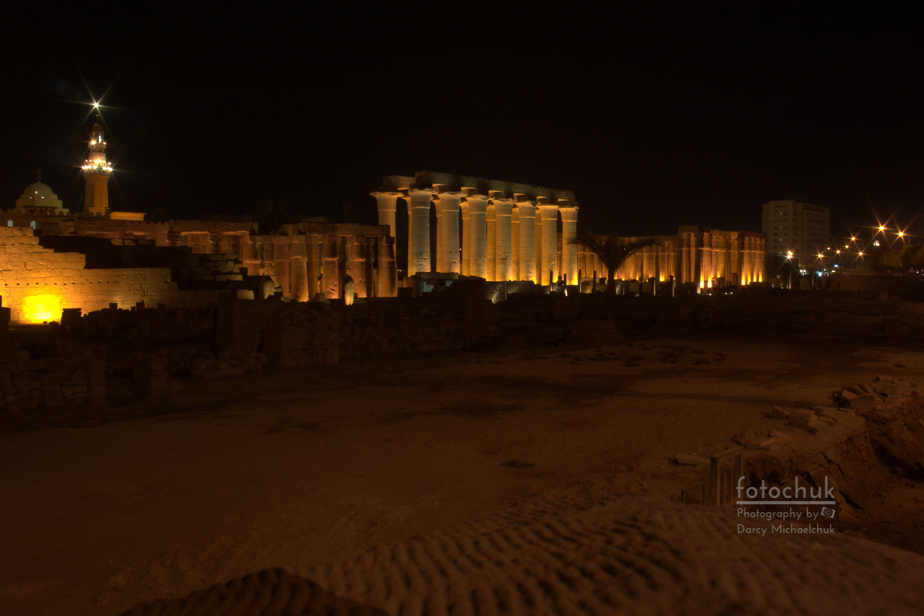 Ruins at Karnak at Night
