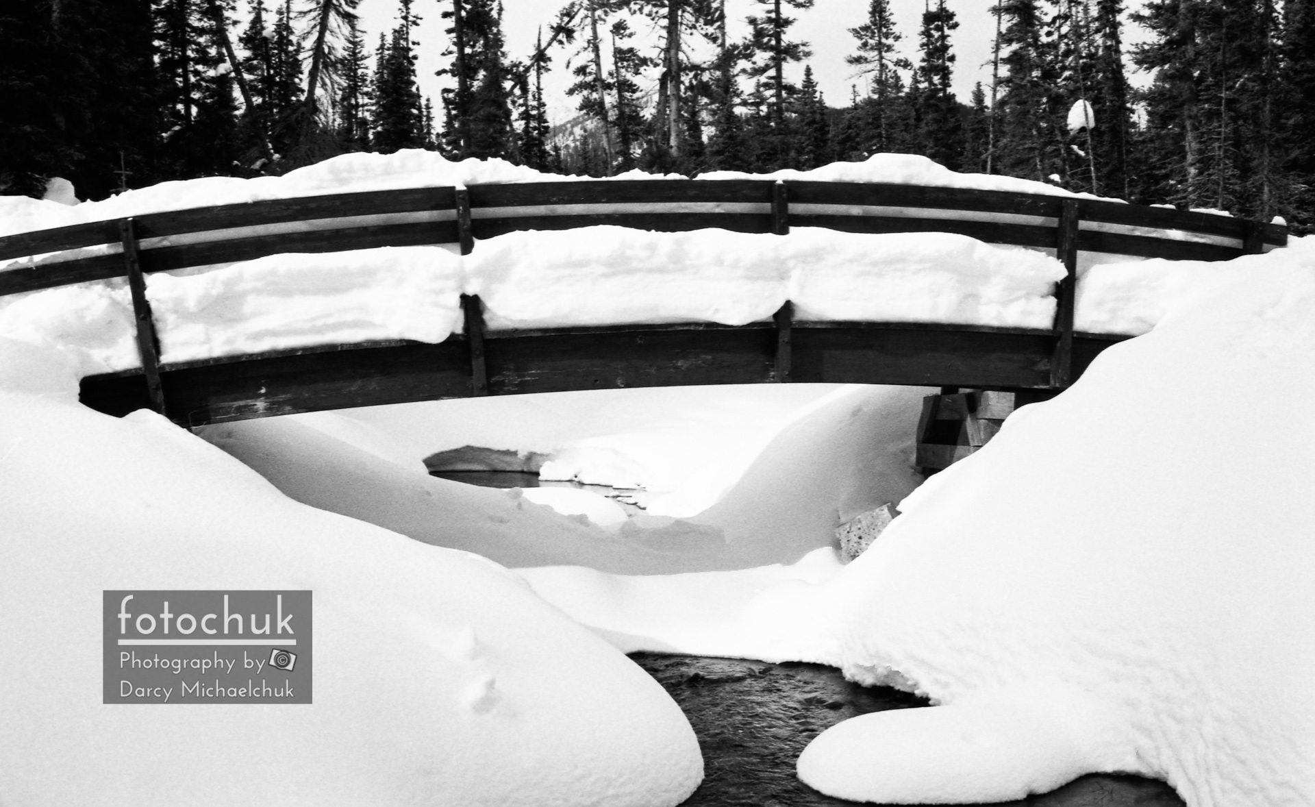 Snow Bridge in Canadian Rockies