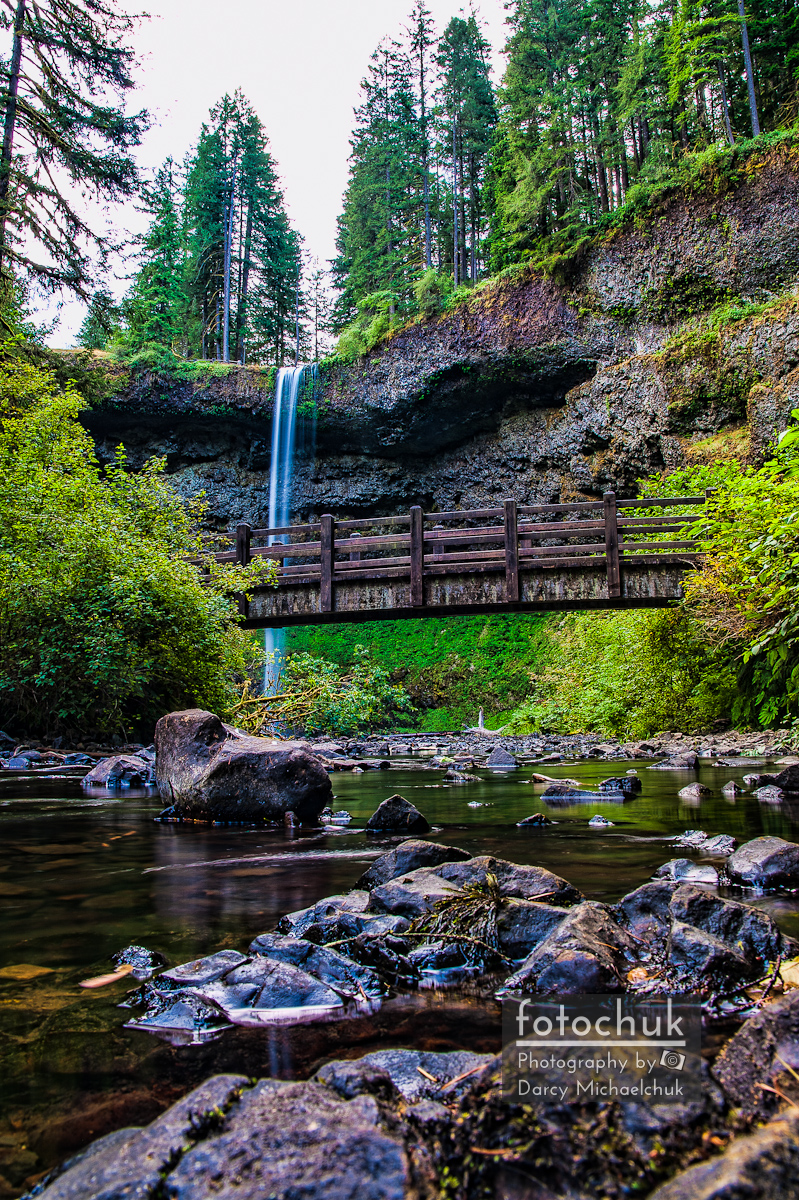 South Silver Falls with Bridge
