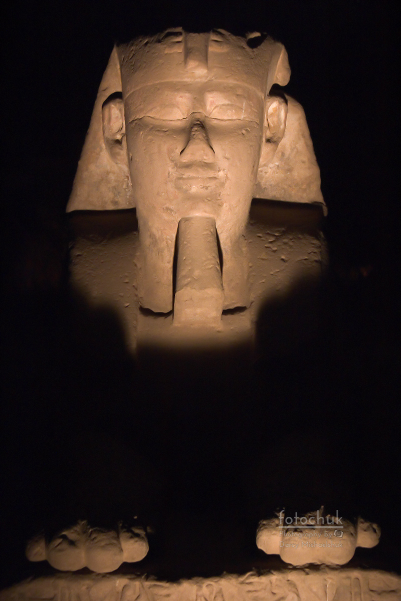 Sphinx at Karnak at Night