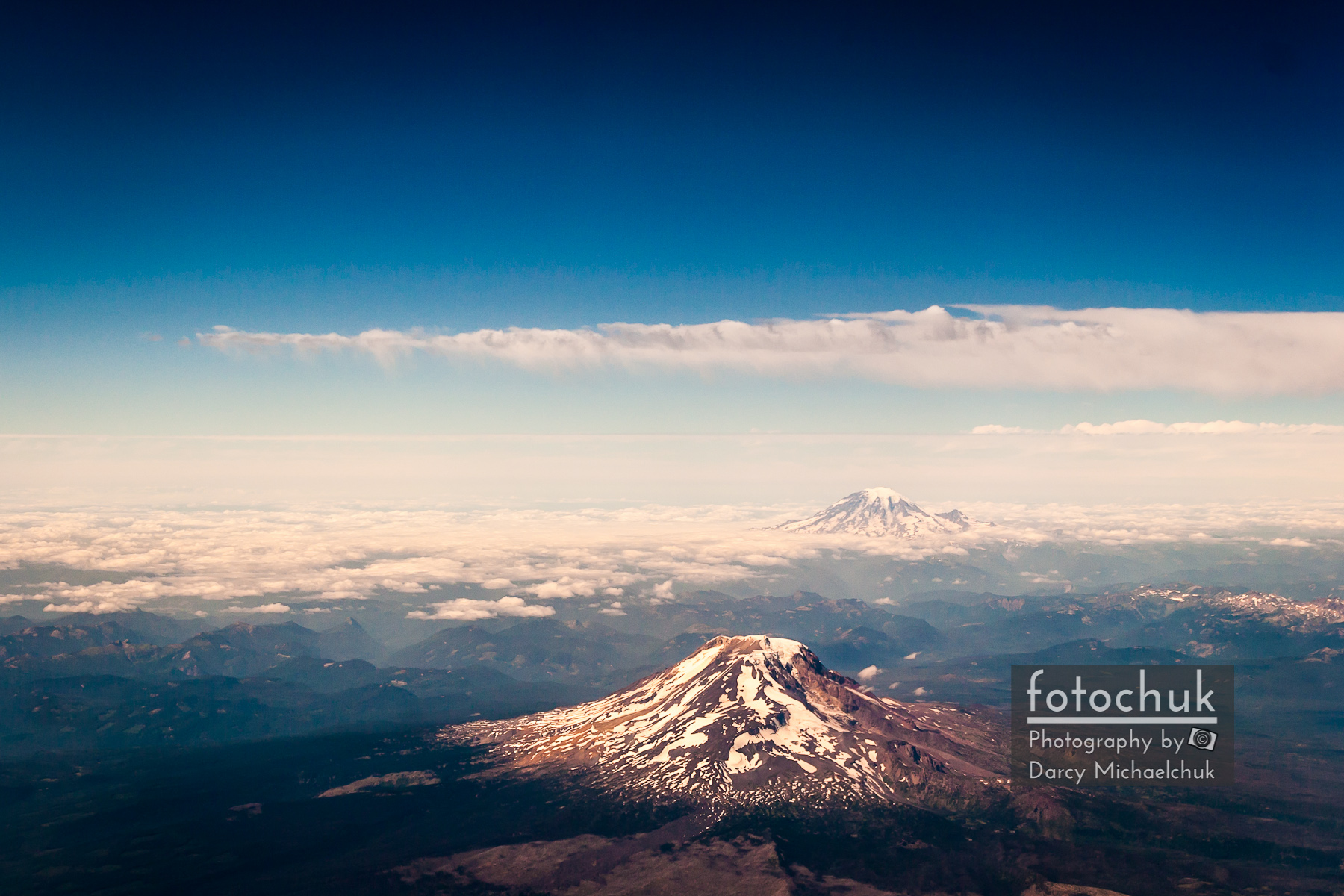 St Helens and mt Adams