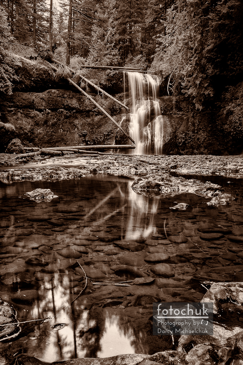 Upper North Silver Falls Sepia