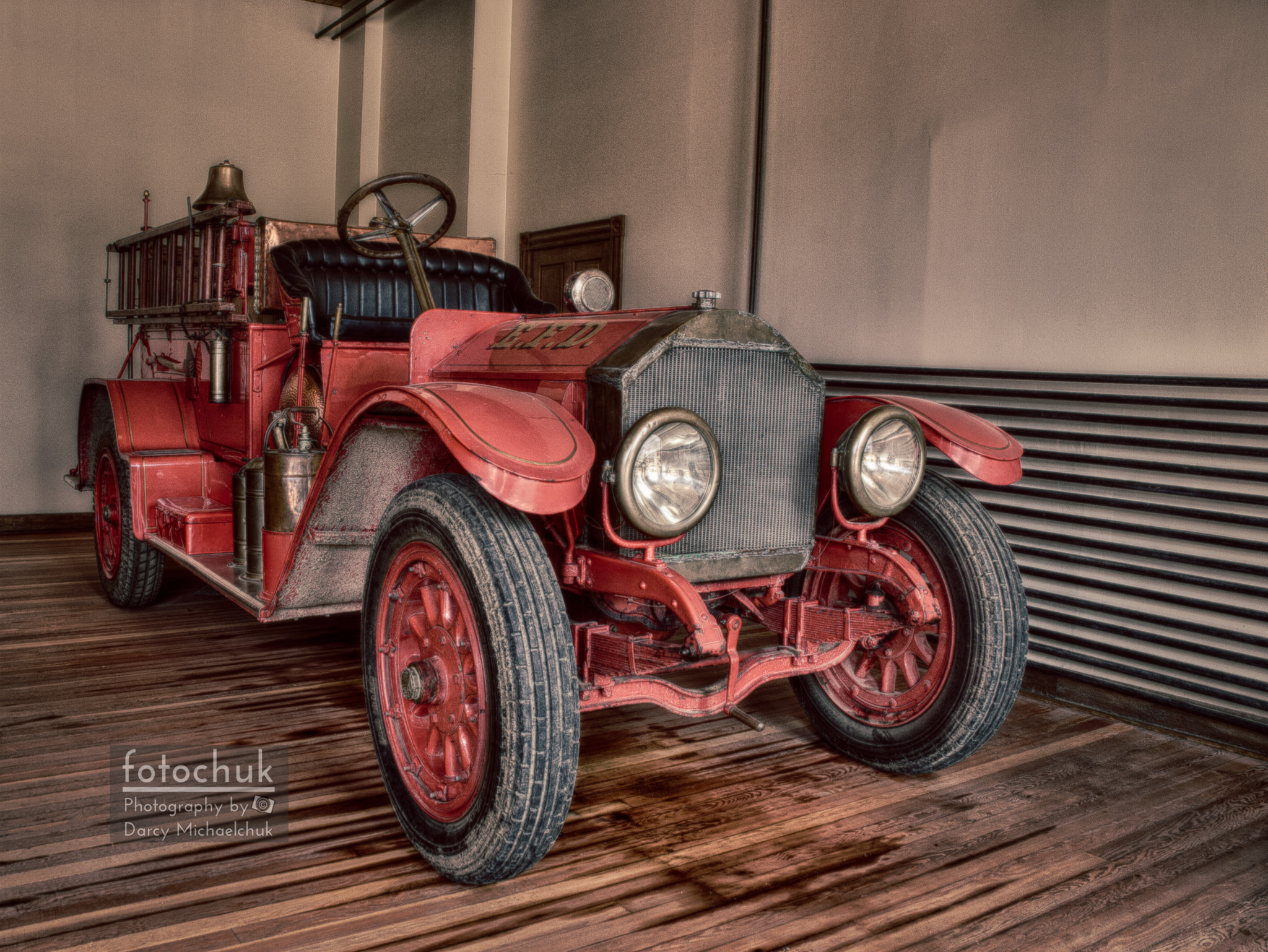 Vintage Fire Truck  by Darcy Michaelchuk