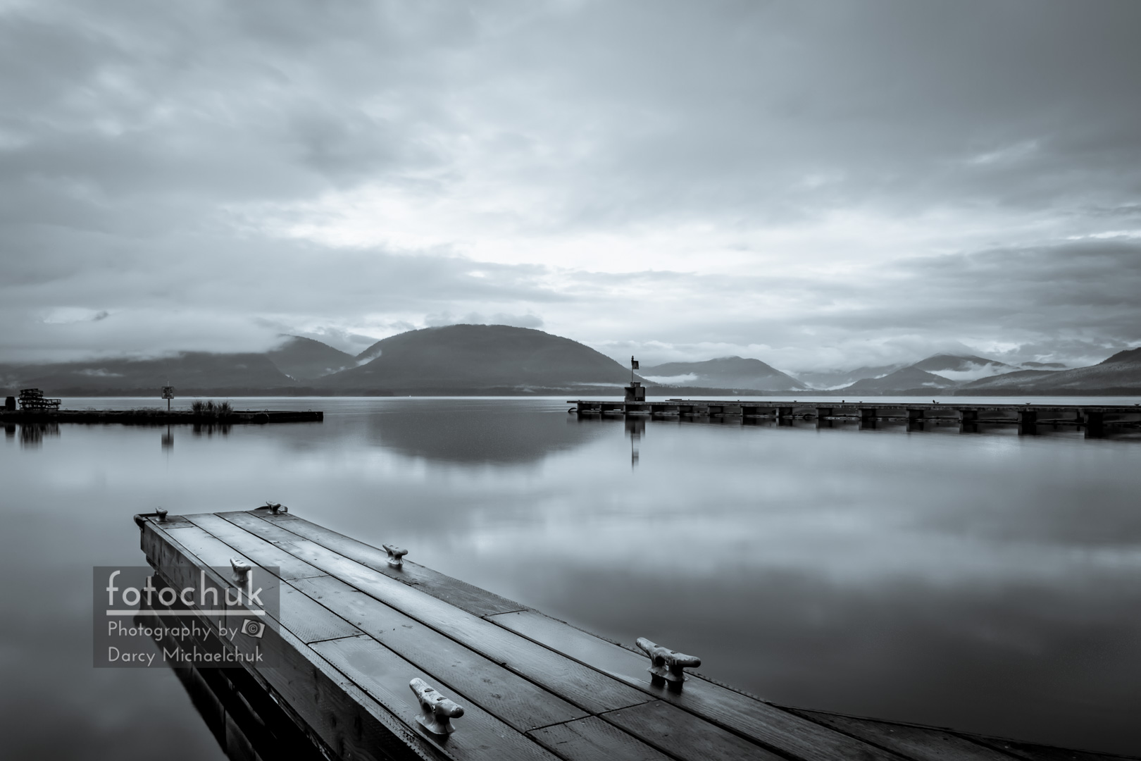 Empty Dock at Tenakee Springs  by Darcy Michaelchuk