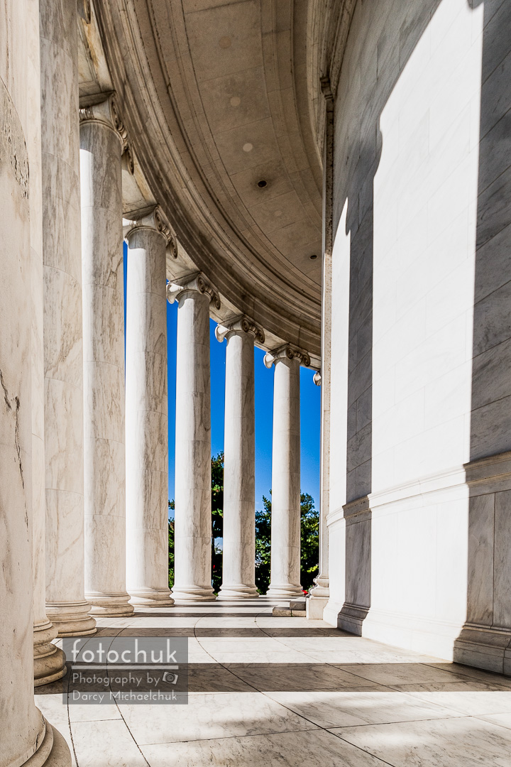 Columns Surrounding Jefferson Memorial