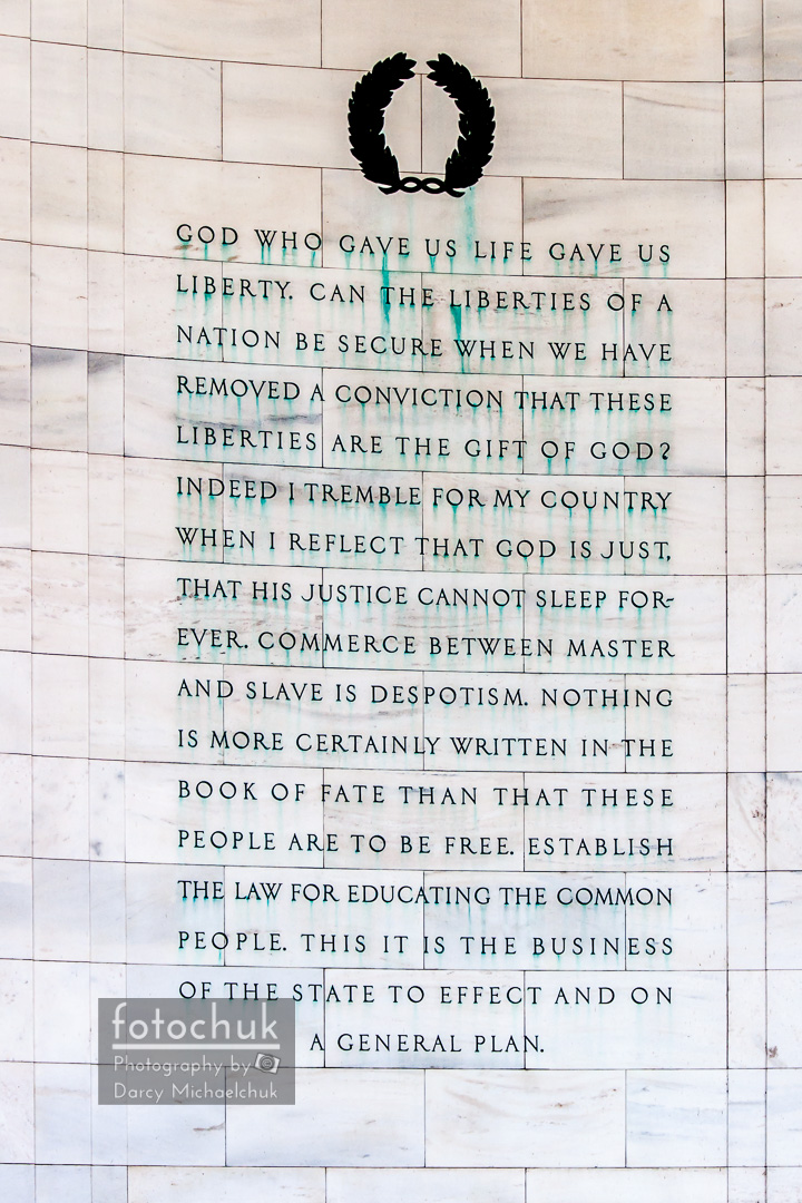 Thomas Jefferson Memorial Panel 2