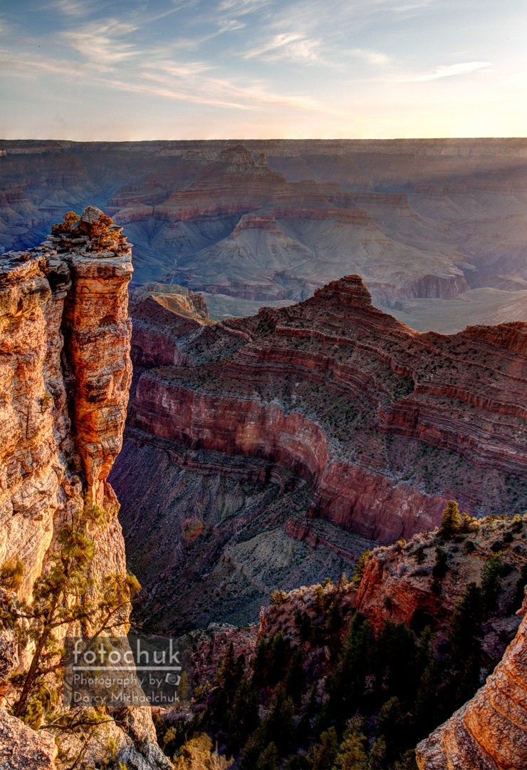 Warm Grand Canyon Ridgeline