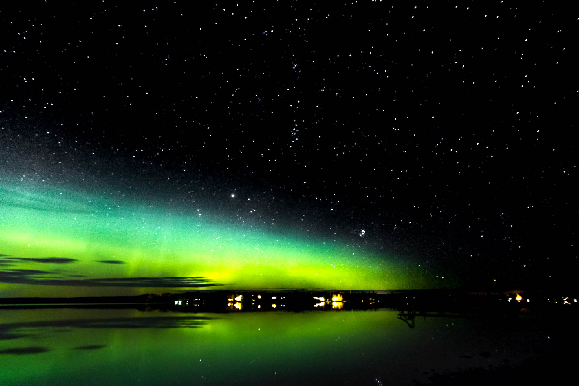Northern Lights with Start Filled Sky