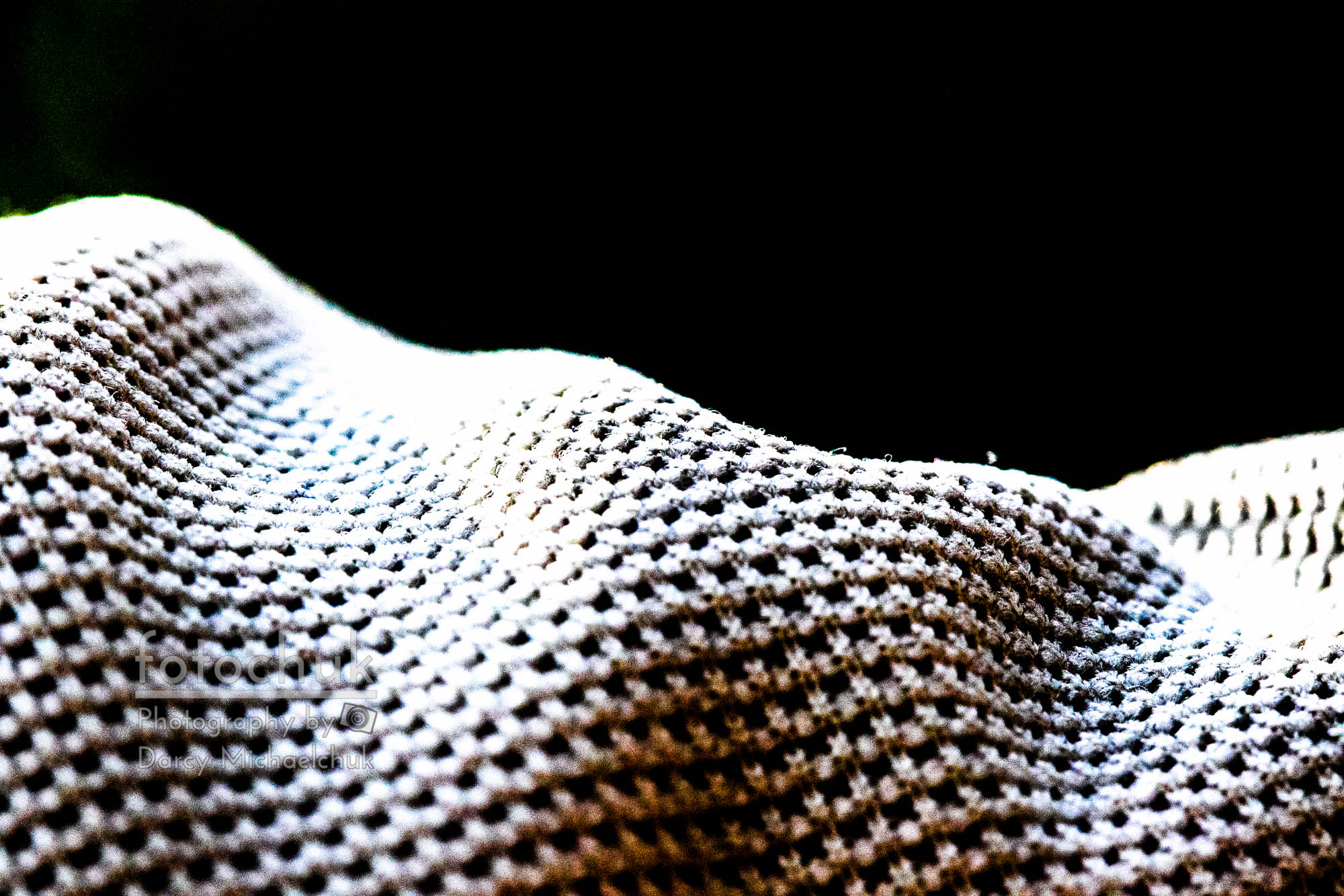 Shirt fabric in close and high contrast  by Darcy Michaelchuk