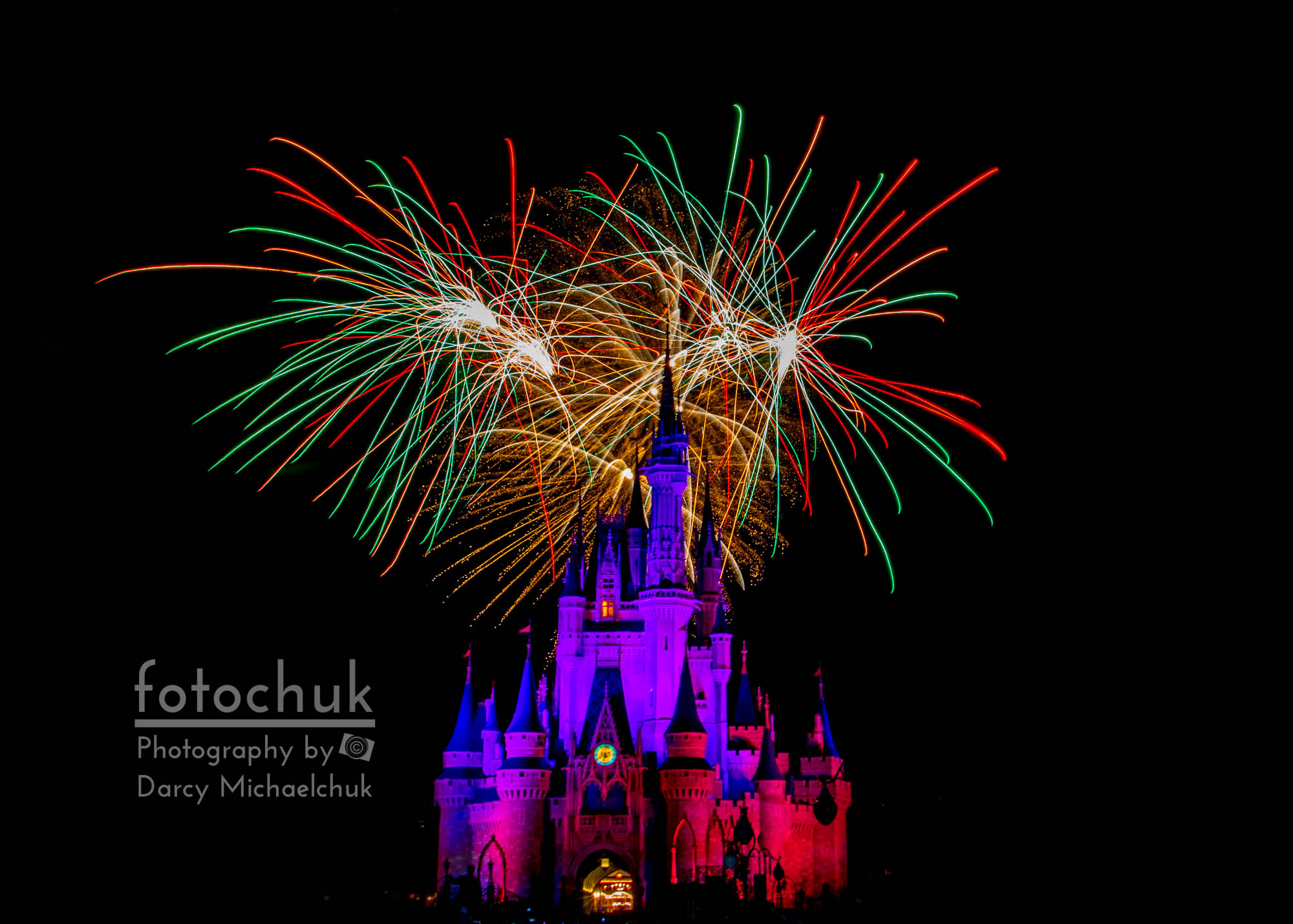 Christmas Colored Disney Fireworks