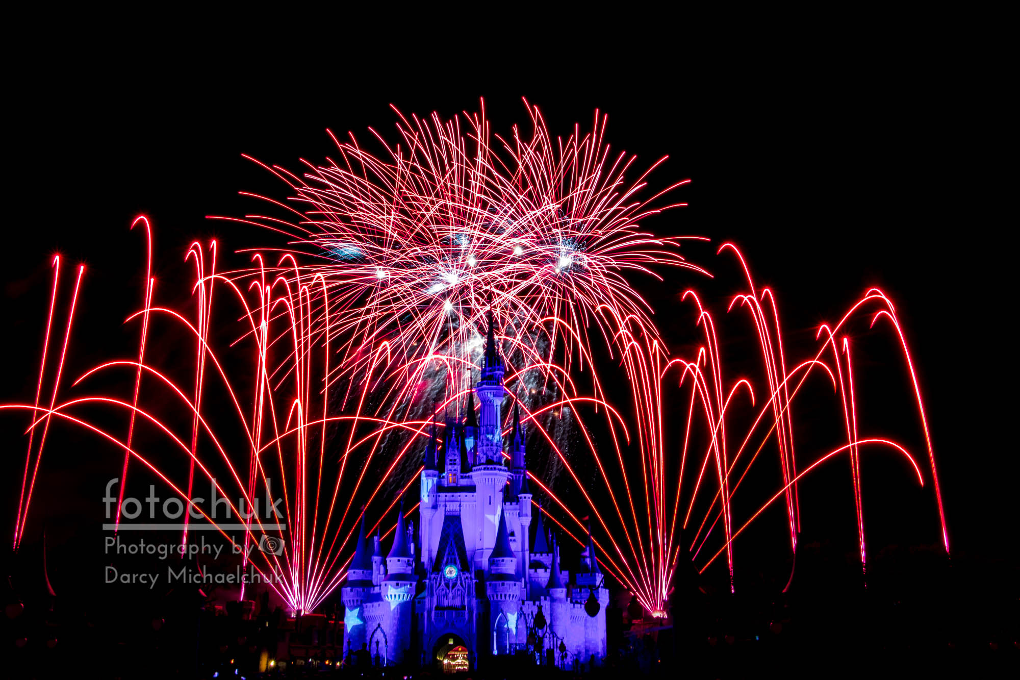 Red Disney Fireworks