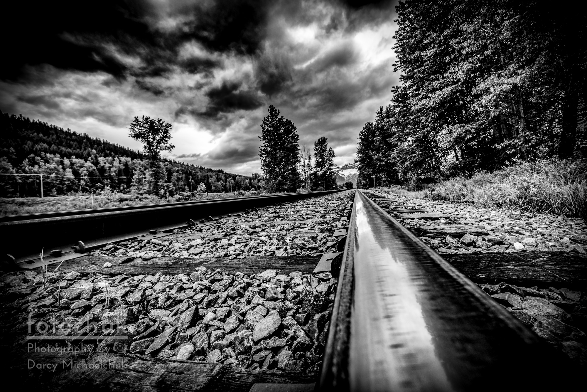 buy From the Track BW canvas print
