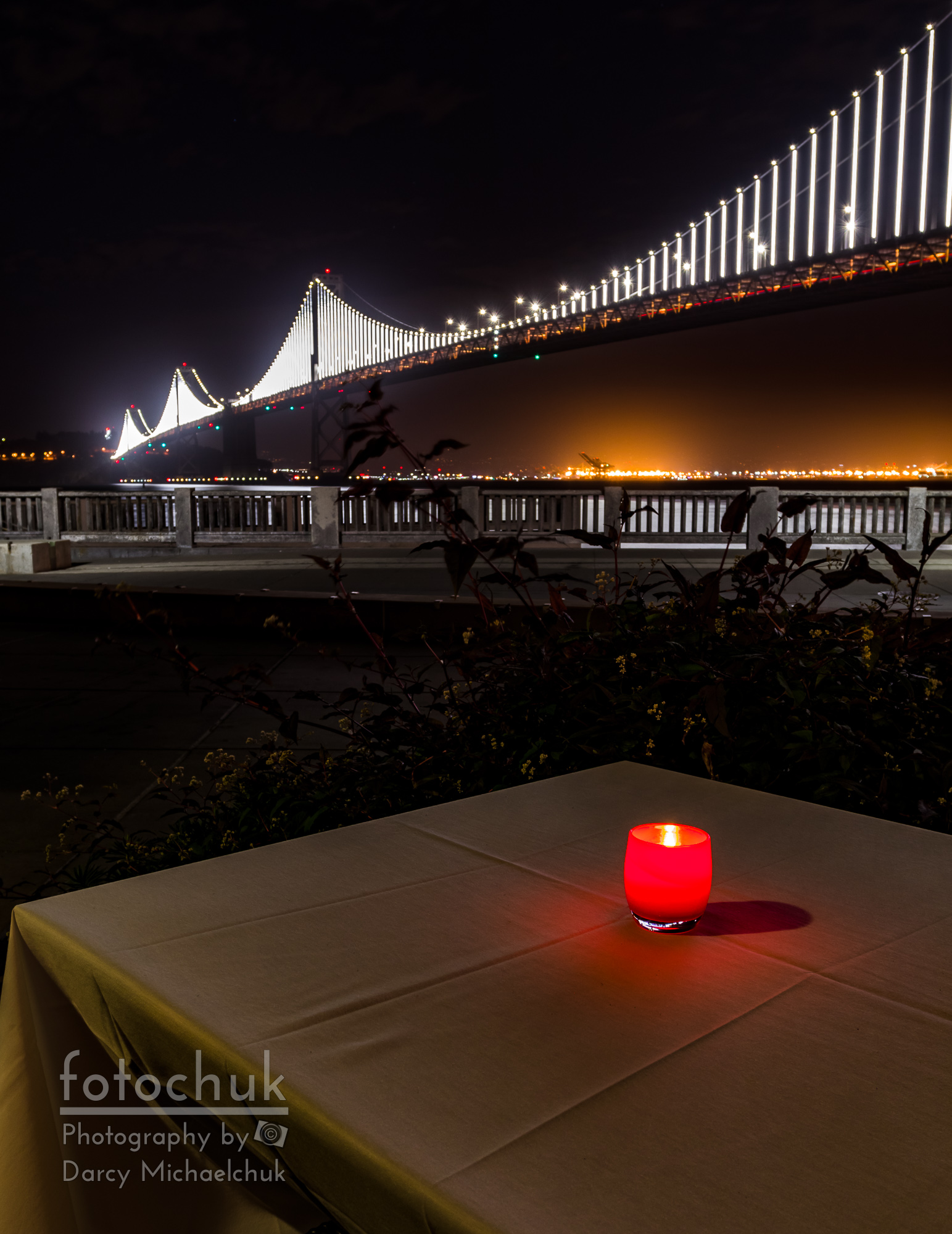 Candle Lit Table Under the Bridge