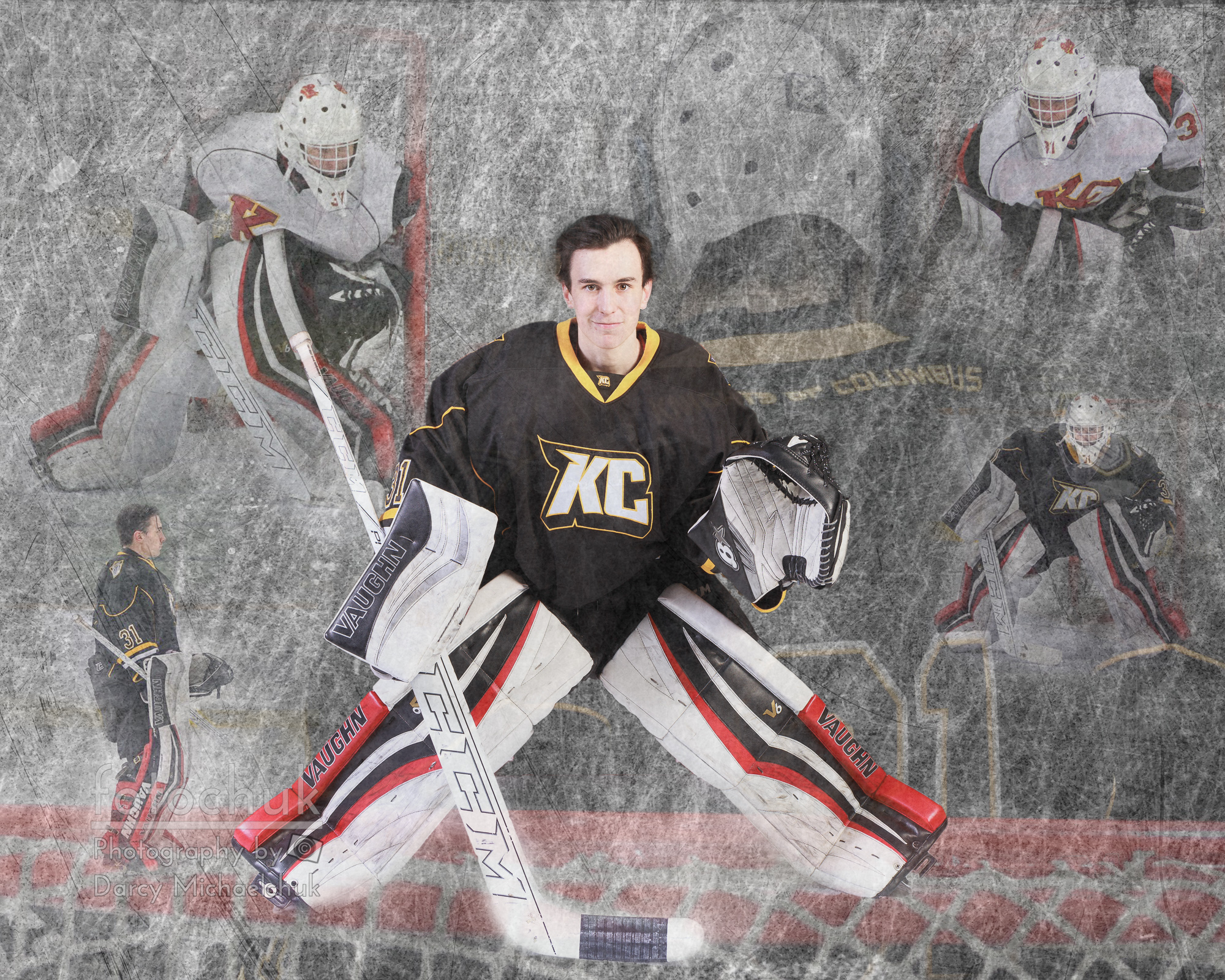 Goalie Art Montage