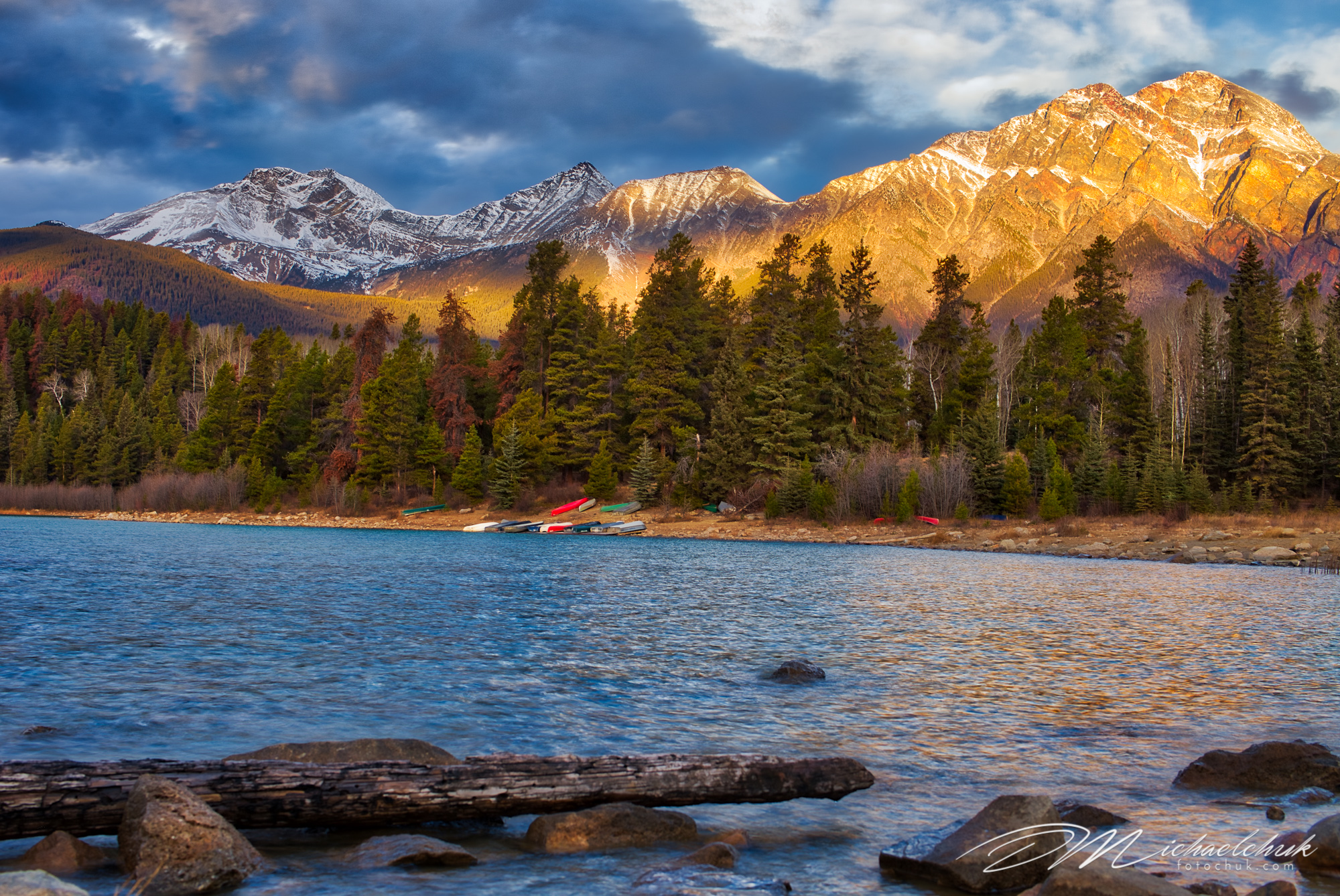 Patricia Lake at Sunrise